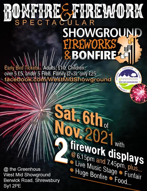 West Mid Showground Fireworks 2021
